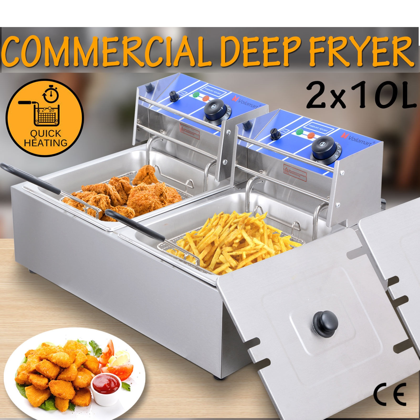 Electric Bench Twin Deep Fryer